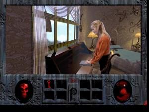 Dzielna bohaterka gry dokonuje pierwszego bohaterskiego czynu, zamyka laptopa.