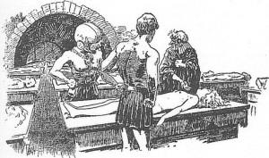 """Ciekawostka, tego typu nagość była akceptowana w latach 20-tych. Później trochę się to zmieniło, ale warto zaznaczyć, że wcześniejsze ilustracje do powieści Burroughsa były zwykle """"grzeczniejsze"""", co chyba wiele mówi o Gernsbacku."""