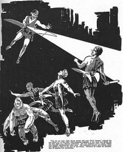 Tak sobie wyobrażał equilibrimotory autor ilustracji do Amazin Stories. Ja widziałem je troche inaczej...