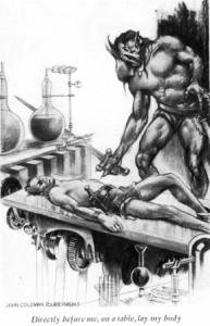 """Nasz bohater w ciele Hormada i jego własne """"lepsze"""" czekające na stole operacyjnym."""