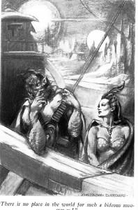 Janai i Vor Daj. Mimo wszystko patrząc na tę ilustrację mozna trochę zrozumieć wątpliwości bohatera.