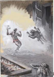 John Coleman Burroughs, syn Edgara, był niezwykle utalentowanym rysownikiem. Pracował w Hollywood przy produkcji filmów, ale także ilustrował książki ojca. To obraz, który służył jako podstawa jednej z ilustracji.